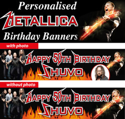 Personalised Metallica Themed Party Banner Decorations