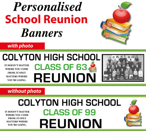 Personalised School Reunion Party Banners Decorations