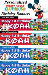 Personalised Mickey Mouse Clubhouse Birthday Party Banner