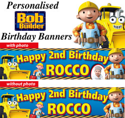 Personalised Bob The Builder birthday Party Banners Decorations