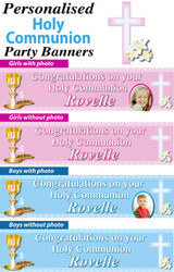 Personalised Holy Communion Party Banners Decorations