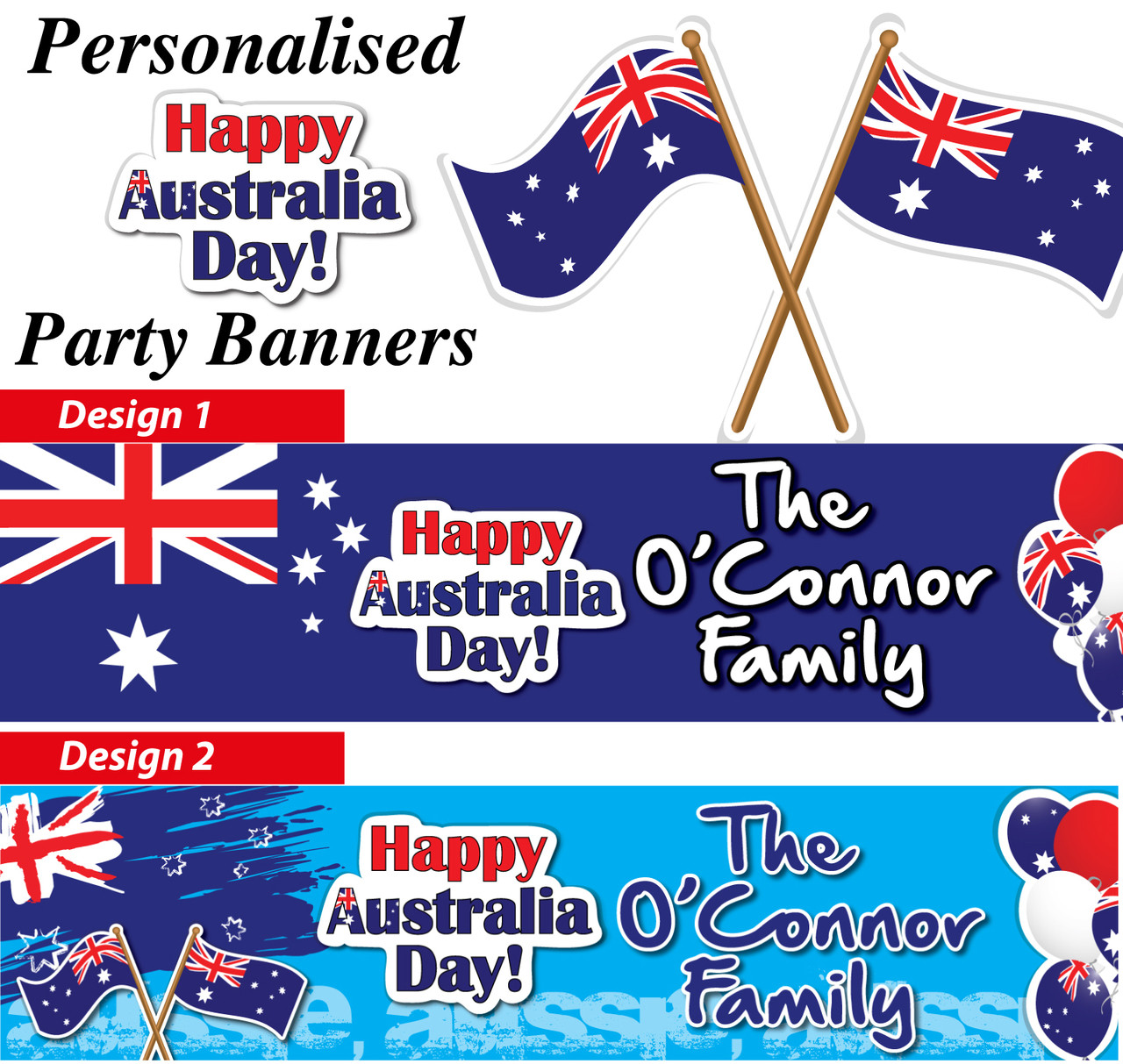 Personalised australia day party banners decorations for Australia day decoration