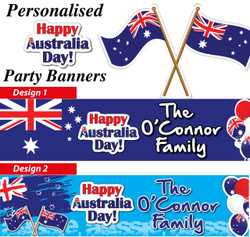 Personalised Australia Day Party Banners Decorations