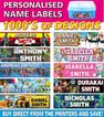 Personalised Kids Vinyl Name Labels - Drink Bottles Lunchbox School