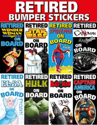 New Funny Retired Bumper Stickers Retirement