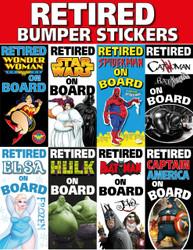New Funny Retired Bumper Stickers Retirement