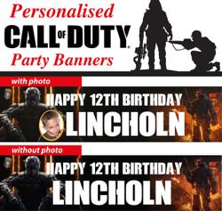 Personalised Call of Duty Birthday Party Banners Decorations