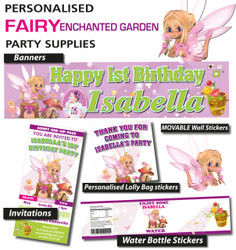 Personalised Fairy Enchanted Garden Birthday Party Decorations