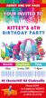 Personalised Trolls Birthday Party Invitations
