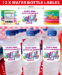 Personalised Trolls Birthday Party water bottle labels