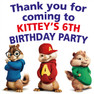 Personalised Alvin and the Chipmunks Lolly Toot bag Stickers