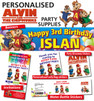 Personalised Alvin and the Chipmunks Party Supplies