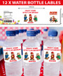 Personalised Alvin and the Chipmunks Water bottle labels
