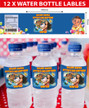Personalised Moana Birthday Party Water bottle labels