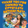 Personalised Moana Birthday Party Lolly toot bag stickers