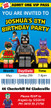 Personalised Batman Lego Birthday Party Invitations