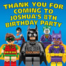 Personalised Batman Lego Birthday Party Lolly bag stickers