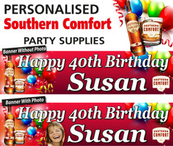 Personalised Southern Comfort Themed Party Banners Decorations