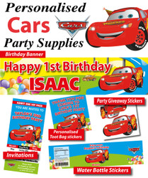 Cars Lightning McQueen Birthday Party Banner