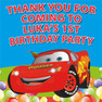 Cars Lightning McQueen Birthday Party Lolly Toot bag stickers