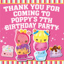 Personalised Num Noms Birthday Party Toot Lolly bag stickers