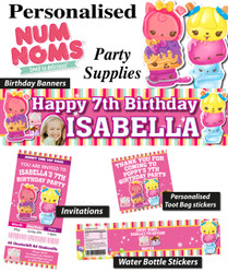 Personalised Num Noms Birthday Party Banner Decorations