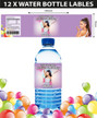 Personalised Ariana Grande Birthday Party Water Bottle Labels