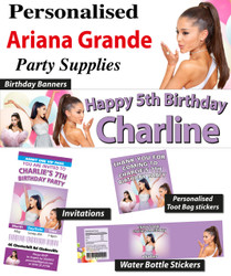 Personalised Ariana Grande Birthday Party Banner Decorations