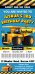 Personalised Construction Trucks Birthday Party Invitations
