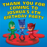 Personalised PJ Masks Birthday Party Lolly toot bag Stickers