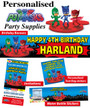 Personalised PJ Masks Birthday Party Banner Decorations