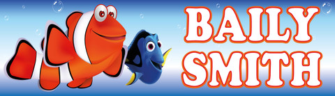 Personalised Finding Nemo Waterproof School Name Labels
