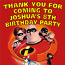 Personalised The Incredibles Birthday Party Lolly toot bag stickers