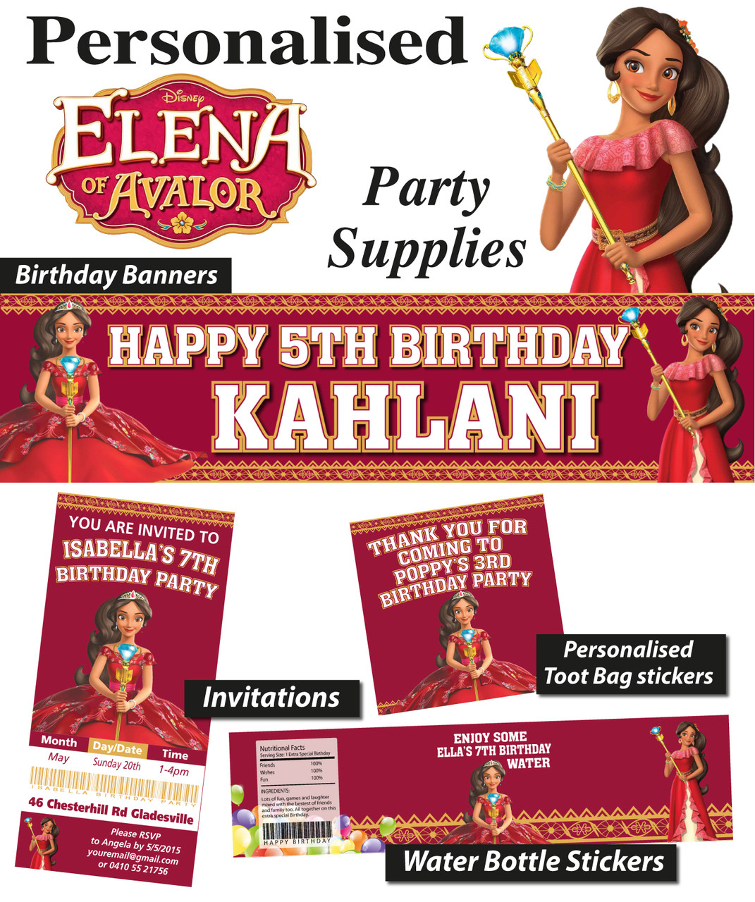 Princess Elena Of Avalor Birthday Party Banner Decorations Loading Zoom