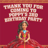 Princess Elena of Avalor Birthday Party Lolly toot bag stickers