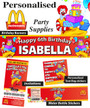McDonalds Birthday Party Banner Decorations supplies