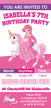 Unicorn Princess Birthday Party Invitation