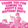 Unicorn Princess Birthday Party toot lolly bag stickers