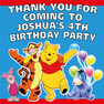 Winnie the Pooh Birthday Party lolly loot bag stickers party favor