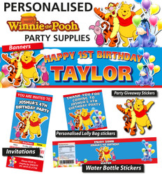 Winnie the Pooh Birthday Party Banner Decorations Supplies