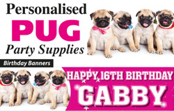 Pug Birthday Party Banners Decorations