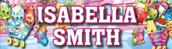 Personalised Shopkins Waterproof School Name Labels