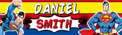 Personalised Superman Waterproof School Name Labels