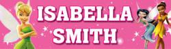 Personalised Tinkerbell Waterproof School Name Labels