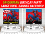 Personalised Spiderman Birthday Party Banner Backdrop Background