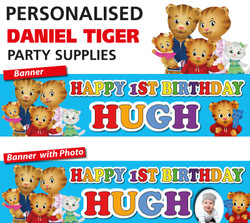 Personalised Daniel Tiger Party Birthday Banners Decoration