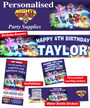 Personalised Paw Patrol Mighty Pups Birthday Party Banner Decorations