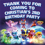 Personalised Paw Patrol Mighty Pups Birthday Party loot bag stickers
