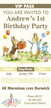 Personalised Peter Rabbit Birthday Party invitations