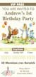 Personalised Peter Rabbit Birthday Party invitations